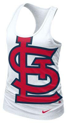 St. Louis Cardinals MLB Nike Women's Cotton White Racerback Tank