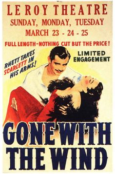 See Gone With the Wind in theaters and visit Atlanta, GA to tour all the GWTW related tourist sites and museums.