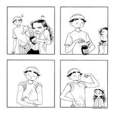 Best Friends Cartoon, Friend Cartoon, Cute Comics, Funny Comics, C Casandra Comics, Cassandra Calin, Funny Cute, Hilarious, Beaux Couples
