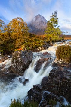 Glen Coe. Buachaille Etive Mòr. Misty Morning in Autumn. Highlands of Scotland.