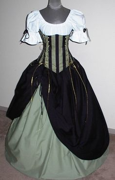 $219.99 Mysterious Maiden ensemble - renaissance clothing, medieval, costume