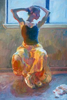 Seated Dancer Poster Print by John Asaro (24 x 36)