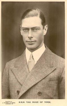 Albert Duke of York, future King George VI of Britain. Queen Elizabeth father