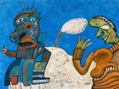 "lucebert/""afrikaans koninklijk paar"" (african royal couple) 90 x 120 cm oil/Canvas (1972)"