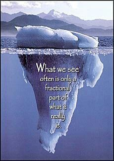 Image result for iceberg what you see vs what is underneath