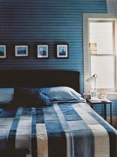 Love modern design but also love the rustic charm of a colorful quilt
