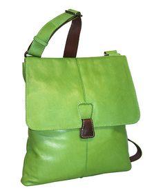 This Nino Bossi Handbags Apple Green Cross Town Girl Leather Crossbody Bag  by Nino Bossi Handbags is perfect! d66cf3ac1c3d1