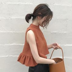 Buy Summer new Korean style Hong Kong taste pure color hundred sleeveless small vest students wear a short, lotus leaf edge blouse Female on ezbuy TH Summer Outfits, Casual Outfits, Cute Outfits, Fashion Outfits, Womens Fashion, 2000s Fashion, Fashion Ideas, Moda Vintage, Mode Inspiration