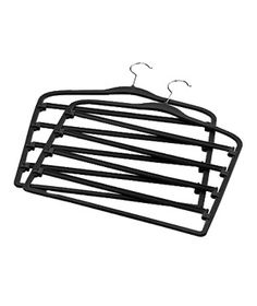 Real simple slimline tie hangers set of 2 black organize tie hanger see more real simple solutions slimline pant hangers 10two holds five pairs of pants ccuart Images