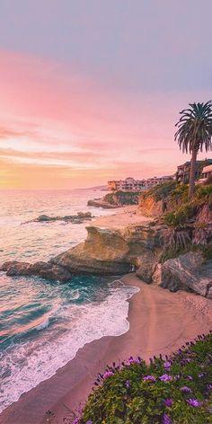 Laguna Beach Sunset Over the Beach