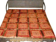 Red Gold Queen Bedspread Mirror Work Designer Velvet Coverlet Throws | eBay Mirror Work, Red Gold, Bohemian Rug, Velvet, Bedspreads, Rust, Indian, Queen, Embroidery
