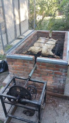 Small Backyard Grill Patio Ideas Outdoor Grill Design S Gas Stove Oven Motor Two Burners Outdoor Oven, Outdoor Fire, Outdoor Cooking, Outdoor Living, Outdoor Decor, Barbecue Four A Pizza, Barbecue Pit, Bbq Grill, Brick Bbq