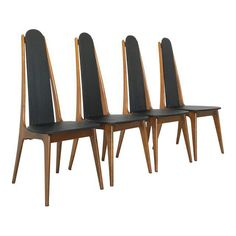 Image of Mid-Century Modern Atomic Dining Chairs - Set of 4