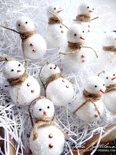 Little Snow Men with Tutorial