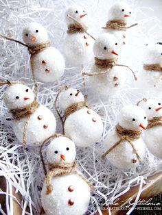 Little Snow Men with Tutorial