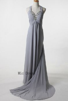 Straps sleeveless floor-length chiffon with crystal beading long prom gowns evening dresses