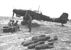 German Stuka dive bomber crew