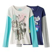 Mudd Mock-Layer Owl Graphic Tee - Girls' 7-16