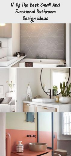 17 of The Best Small and Functional Bathroom Design Ideas - decorisme #tinybathroomWood #Verytinybathroom #tinybathroomSink #tinybathroomDimensions #tinybathroomSquareFeet