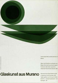 Glaskunst aus Murano poster by Emil Ruder