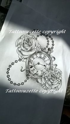 clock tattoo design/ tatouage horloge by tattoosuzette on DeviantArt