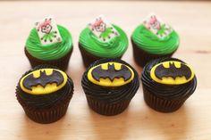 Batman and Joker Cupcakes
