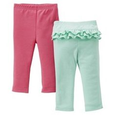 Just One You™Made by Carter's® Newborn Girls' 2 Pack Pant Set - Pink/Turquoise