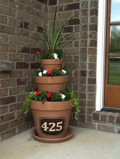 #11. Get creative with your address numbers! ~ 17 Impressive Curb Appeal Ideas (cheap and easy!)                                                                                                                                                                                 More