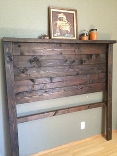 Rustic wood headboard, headboard, bed frame, rustic, wood headboard, local, Vacaville, bed, shabby chic, weathered, deposit, made to order, on Etsy, $190.00