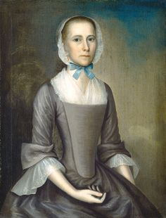 Joseph Badger  Eleanor Wyer Foster (Mrs. Isaac Foster), 1755  National Portrait Gallery DC   1957.11.2