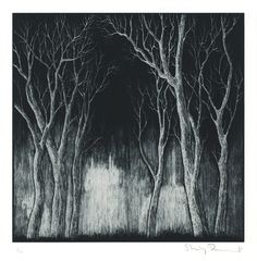 Stanley Donwood print: Bad Woods III