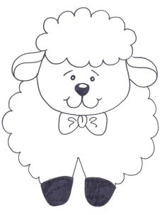 Bible School for Kids: Easter: Little Sheep with Messages for Coloring . Art Drawings For Kids, Drawing For Kids, Cartoon Drawings, Easy Drawings, Quilt Baby, Easter Crafts For Kids, Preschool Crafts, Animal Coloring Pages, Coloring Books