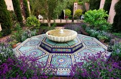 The Carpet Garden in Highgrove Garden. Inspired by Turkish carpets in Highgrove House