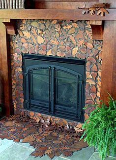 Fallen Leaves fireplace surround