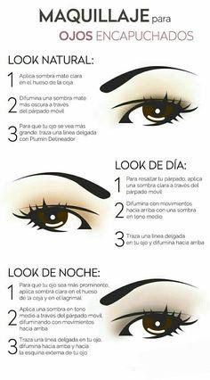 Aprende a maquillar tus #ojos caídos con estos consejos. #MaquillajeParaOjosCaídos #Maquillaje #Makeup #TipsDeBelleza