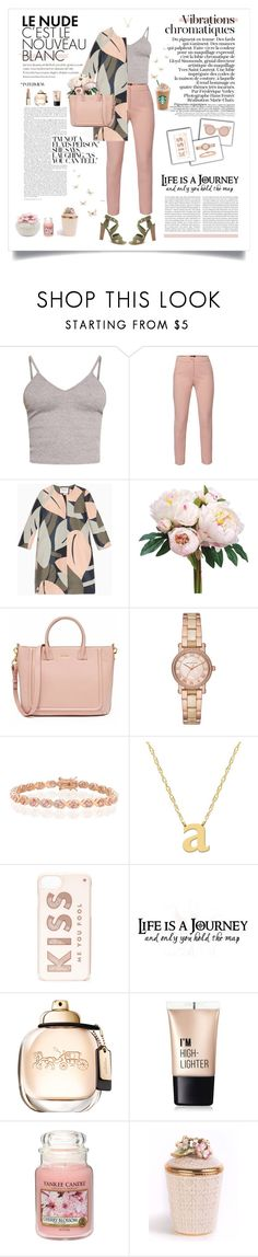 """""""Le Nude in the city"""" by kikusek ❤ liked on Polyvore featuring BasicGrey, WtR, Max&Co., Michael Kors, Bling Jewelry, Jane Basch, Fendi, Kate Spade, Charlotte Russe and Yankee Candle"""