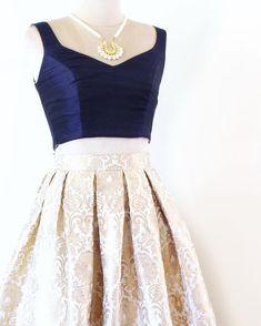 Opulence skirt - Ivory  Poppylane.ca