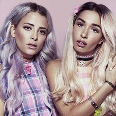 Purple || Blonde || Rebecca & Fiona