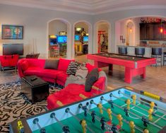 65 Cool Hangout Room Design For Your House Teen Game Rooms, Small Game Rooms, Video Game Rooms, Family Game Rooms, Game Room Design, Family Room Design, Home Entertainment, Salas Lounge, Arcade Room