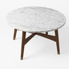 Reeve Mid Century Coffee Table   Marble WalnutReeve Mid Century Coffee Table   Marble  westelm   Office Space  . Marble Dining Table West Elm. Home Design Ideas
