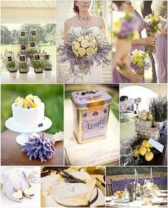 lavender and lemon wedding ideas on French Wedding Style