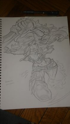 Katarina from League of Legends sketch.