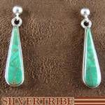 """WhiteRock Genuine Sterling Silver and Turquoise Inlay """"Eagle Valley"""" Post Dangle Earrings"""