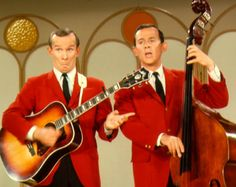 The Smothers Brothers. I watched their Comedy Show on TV as a young boy in the 1960s. Radical Stuff!