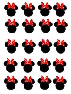 "60 Felt Mouse Head 1//2/"" Applique//Craft//Baby//sewing//trim//Mickey Bow L16-A"