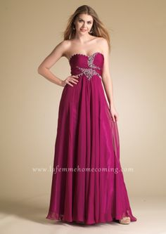 Dave and Johnny 6669 Spaghetti Strapped Burgundy Long Evening Dresses www.lafemmehomecoming.com