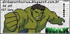 Bom dia a todos!  Mais duas opções para agradar os meninos  Thor:           Hulk:        Bons bordados a todos!