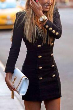 power girl dress black black dress sexy dress sexy gold