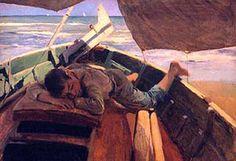 JOAQUÍN SOROLLA: Soñando en la barca Dreaming in the boat