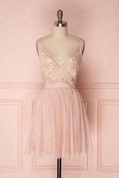 a3fd41bd083 Soralia Blush. Short Lace Bridesmaid DressesBlush Pink ...